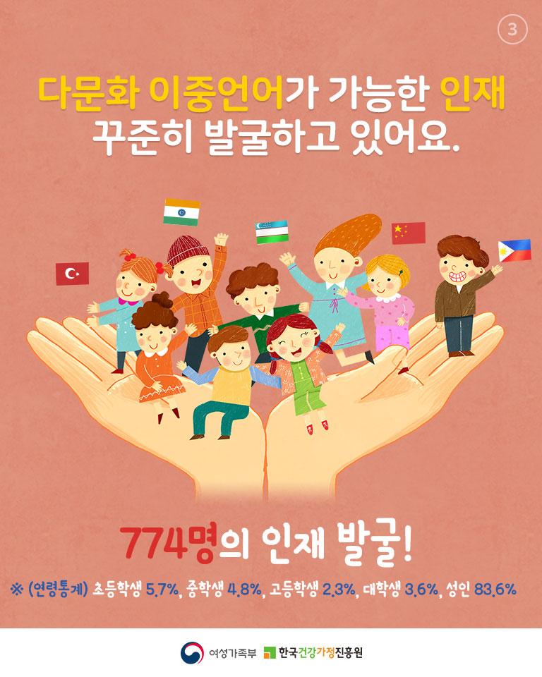 [카드뉴스] 다문화가족 정책소개 : 한국생활가이드북 정보더하기(다문화 이중언어 인재편)_3